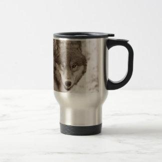 Sepia Wolf 15 Oz Stainless Steel Travel Mug