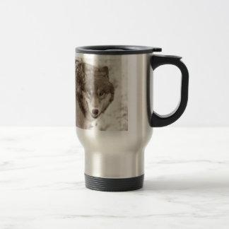 Sepia Wolf Travel Mugs
