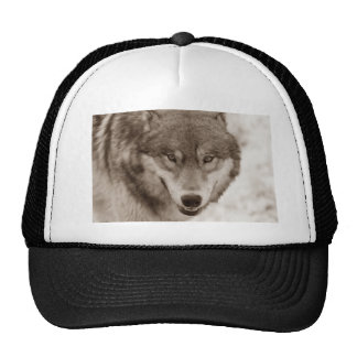 Sepia Wolf Trucker Hat