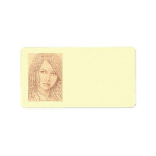 Sepia Woman II Address Label