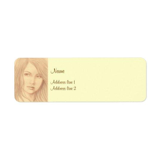 Sepia Woman II Label
