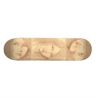 Sepia Woman II Skateboard Deck