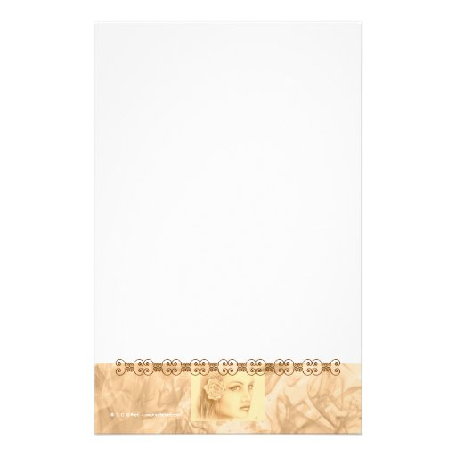 Sepia Woman Stationery Paper