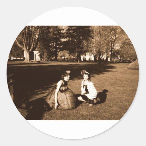 Sepiagirls Round Sticker