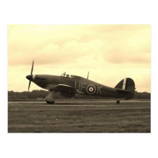 Sepiatone Hawker Hurricane Postcard