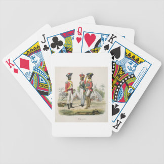Sepoys, from 'L'Inde Francaise' by M.E. Burnouf, e Poker Deck