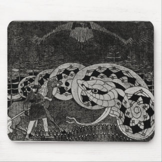 Seppo Llmarinen Ploughing the Field of Snakes Mouse Pad