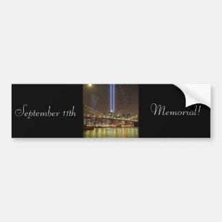 Sept. 11th Memorial! Bumper Sticker