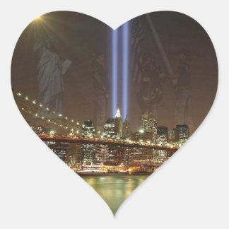 Sept. 11th Memorial! Heart Sticker
