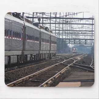 Septa Regional Rail Trains Late Day Meet Mouse Pad