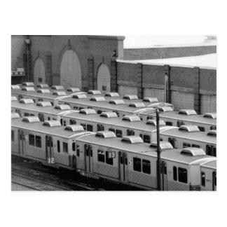 Septa Transit M-3 Market Frankford Blue Line Cars Postcard