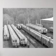 Septa Transit M-3 Market Frankford  Line Cars wide Posters