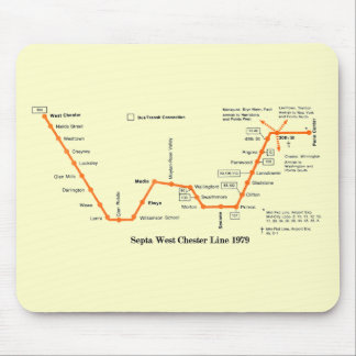Septa West Chester Line Map 1979 Mouse Pad