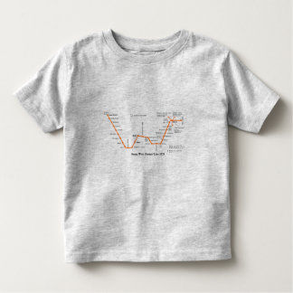 Septa West Chester Line Map 1979 Tee Shirts