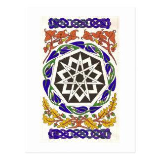 Septagram Star of the Key Words Postcard