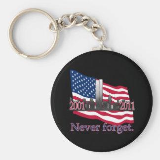 September 11 10 Year Anniversary Tshirt Basic Round Button Keychain
