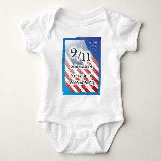 September 11 2001-2011 baby bodysuit