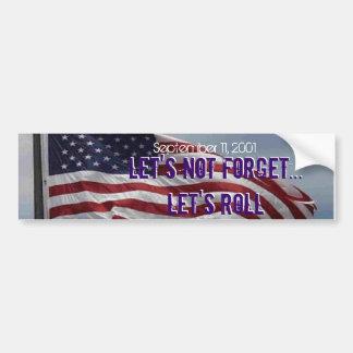 September 11, 2001 bumper sticker