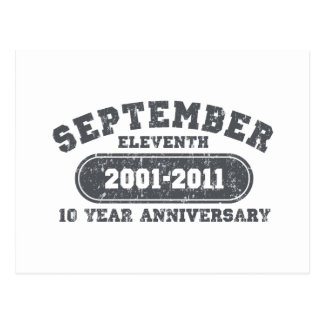 September 11 - 2011 Anniversary Postcard
