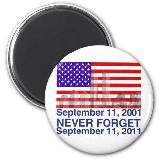 September 11 2 inch round magnet