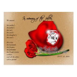 September 11 9 11 Commemorative Memorial Postcard