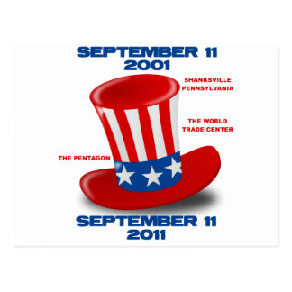 SEPTEMBER-11-ANNIVERSARY-UNCLE-SAM-HAT POSTALES