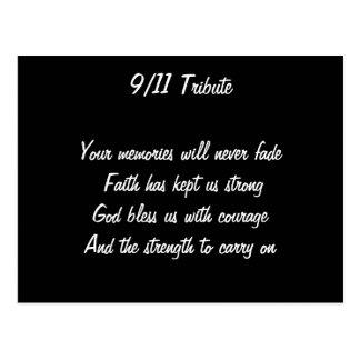 September 11 attacks postcard