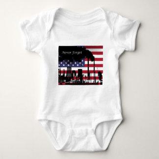 September 11 Never Forget Baby Bodysuit