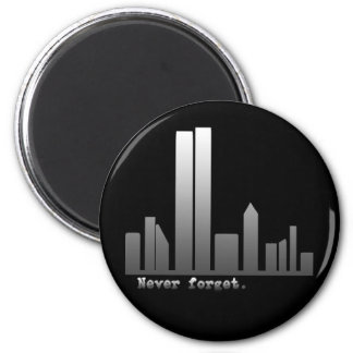 September 11 Never Forget Products 2 Inch Round Magnet