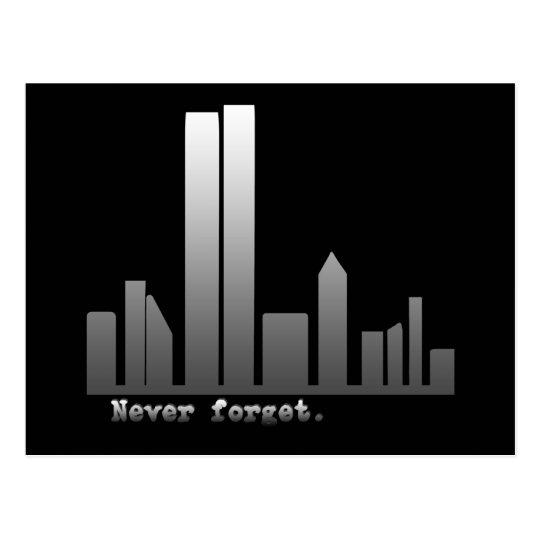September 11 Never Forget Products Postcard