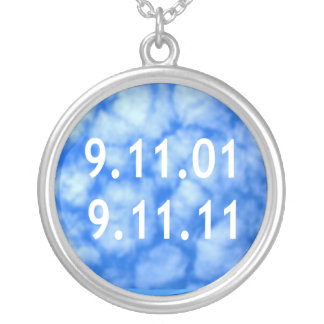 September 11 Remebrance Silver Plated Necklace