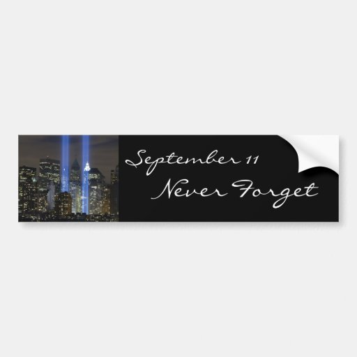 September 11, towers of light bumper stickers
