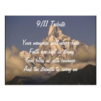 September 11 tribute postcard