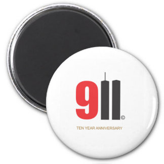September 11 Twin Towers 2 Inch Round Magnet