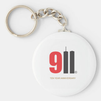 September 11 Twin Towers Basic Round Button Keychain