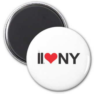 September 11 Twin Towers Love NY 2 Inch Round Magnet