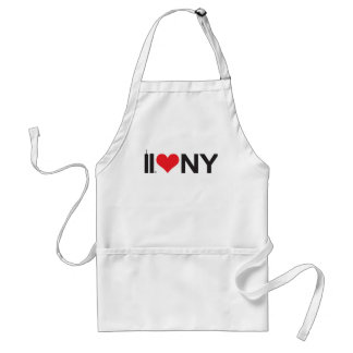 September 11 Twin Towers Love NY Adult Apron