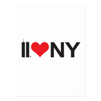 September 11 Twin Towers Love NY Postcard