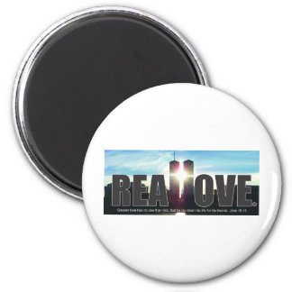 September 11 Twin Towers Real Love 2 Inch Round Magnet