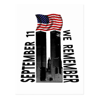 September 11 We Remember Memorial Tribute Postcard