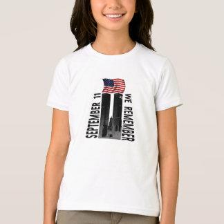 September 11 We Remember Memorial Tribute T-Shirt