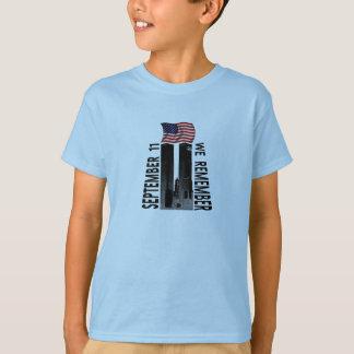 September 11th We Remember Memorial Tribute T-Shirt
