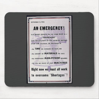 September 14, 1942, An Emergency Mouse Pads