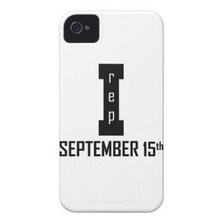 SEPTEMBER 15th birthday design iPhone 4 Case