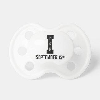 SEPTEMBER 15th birthday design Pacifier
