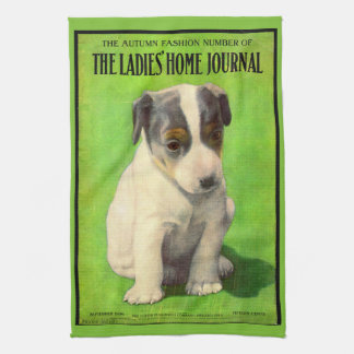 September 1906 Ladies Home Journal cover puppy Kitchen Towel