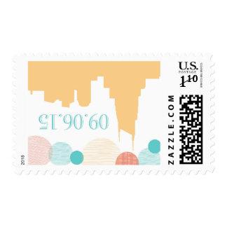 September 6, 2015 wedding postage stamp