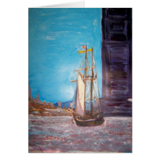 September Afternoon on the Hudson River Greeting Cards
