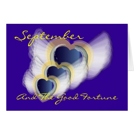 September and the Good Fortune! - Customized Greeting Card