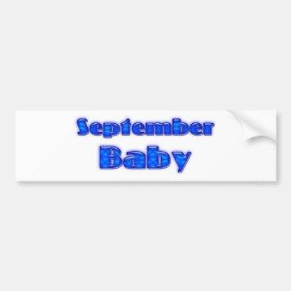 September Baby Bumper Sticker